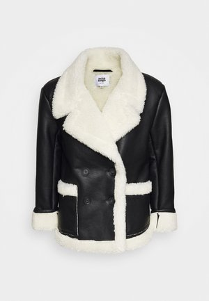 DAISY JACKET - Faux leather jacket - black