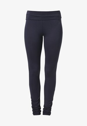 RUFFLED LEGGINGS - Leggings - night blue
