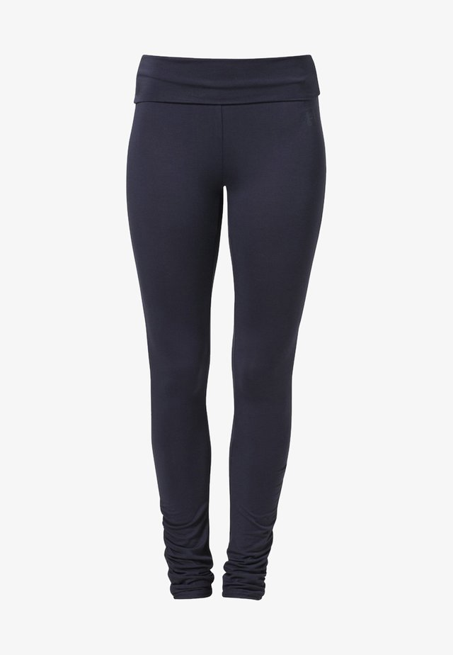 RUFFLED LEGGINGS - Collants - night blue