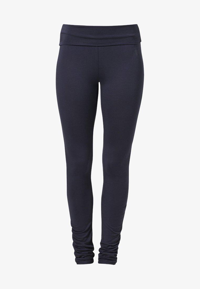 Curare Yogawear - RUFFLED LEGGINGS - Tights - night blue
