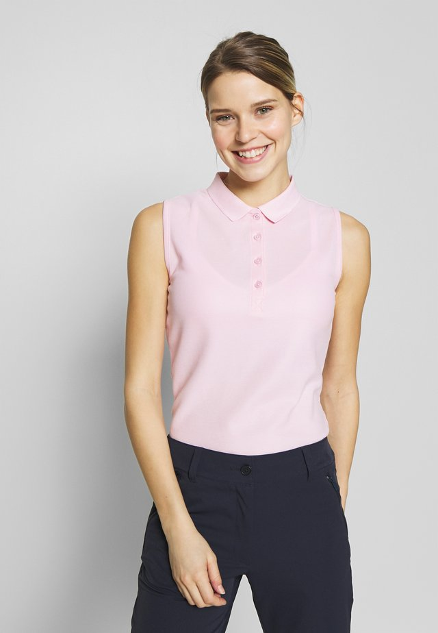 SLEEVELESS PERFORMANCE - Poloshirt - pale pink