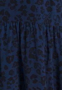 GAP Petite - BOW NECK DROP WAIST - Day dress - blue animal - 4