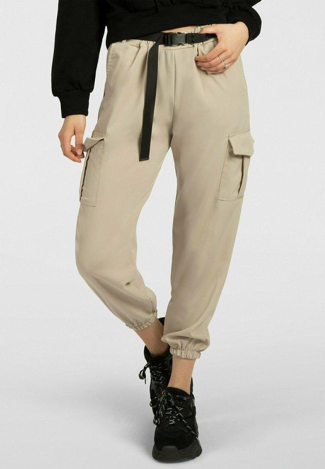 Pantalon cargo - creme