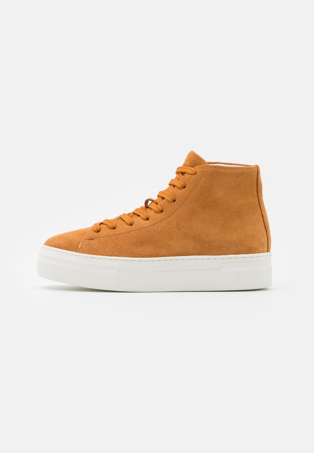 SLFHAILEY TRAINER  - Sneakers hoog - sudan brown