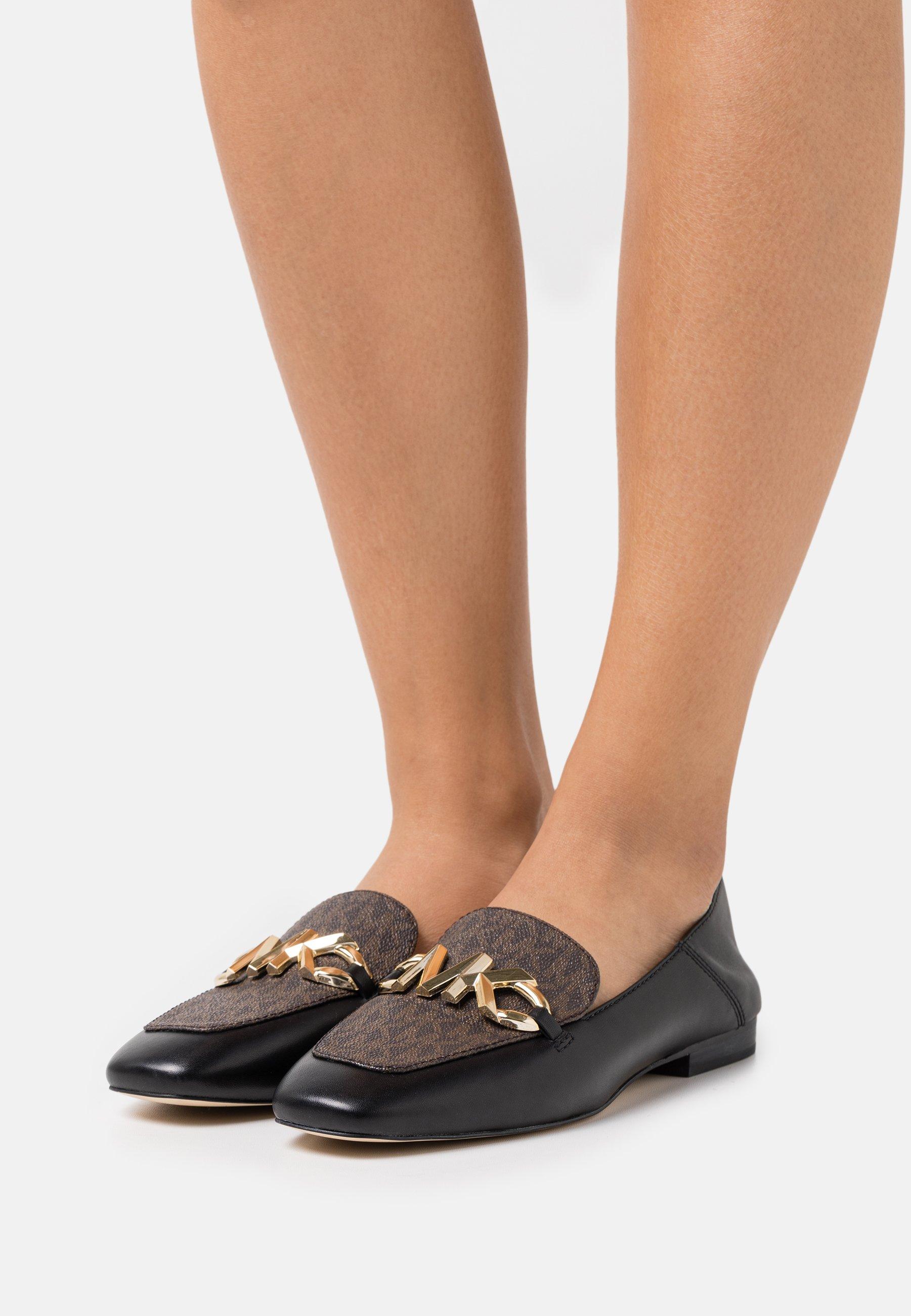 Women IZZY LOAFER - Slip-ons - black/brown