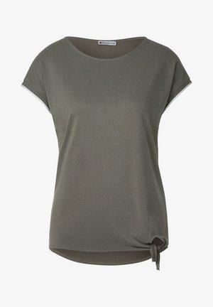 MIT NIETEN-DEKO - Basic T-shirt - grün