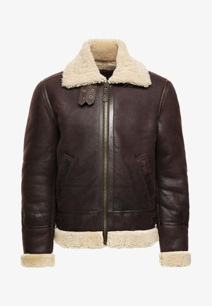 Leather jacket - cordovan