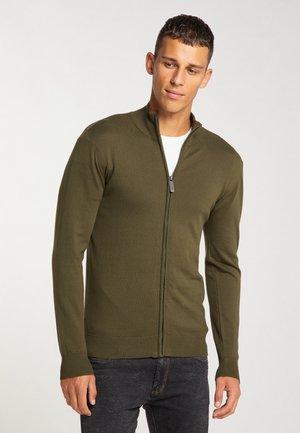 Zip-up sweatshirt - oliv