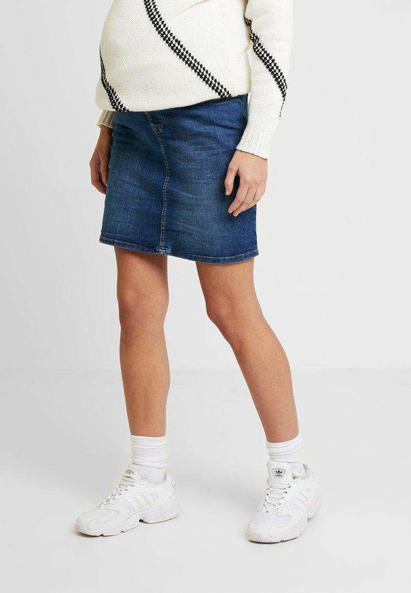 Esprit Maternity - SKIRT - Spódnica jeansowa - medium wash