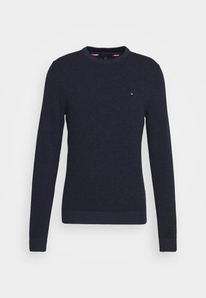 MOULINE STRUCTURE CREW NECK - Stickad tröja - blue