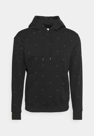 ALL OVER PRINT HOODIE - Sweatshirt - black