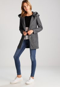 ONLY - ONLSEDONA - Short coat - dark grey melange - 1