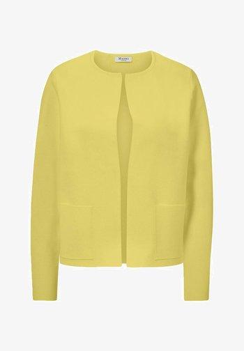 Cardigan - splash of yellow