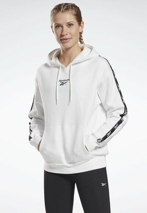 TRAINING ESSENTIALS TAPE PACK HOODIE - Jersey con capucha - white
