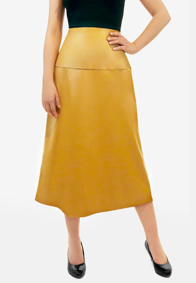 CARINE - A-line skirt - caramel