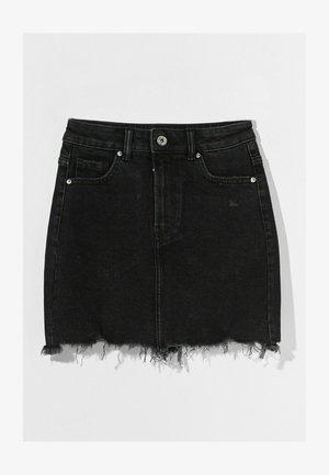 HIGH WAIST - Denim skirt - black
