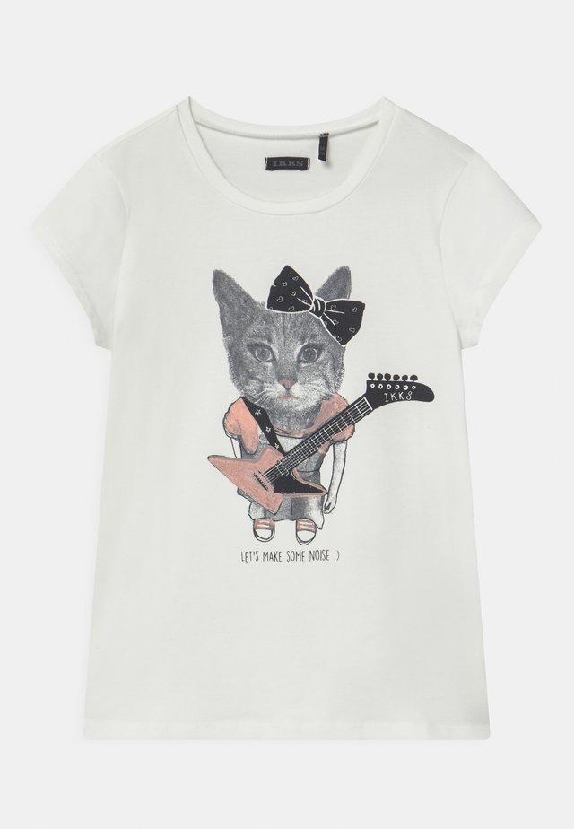 T-shirt imprimé - blanc cassé