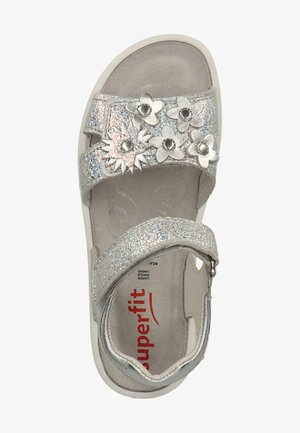 SPARKLE - Sandals - metallic silber 95