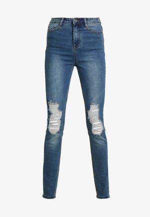 SINNER DISTRESS KNEE CUT  - Skinny džíny - blue
