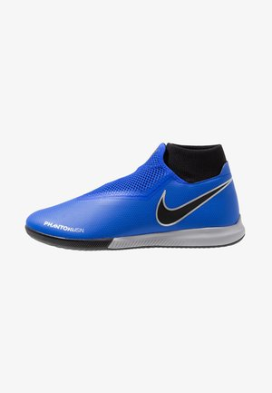 PHANTOM OBRAX 3 ACADEMY DF IC - Indoor football boots - racer blue/black/metallic silver/volt