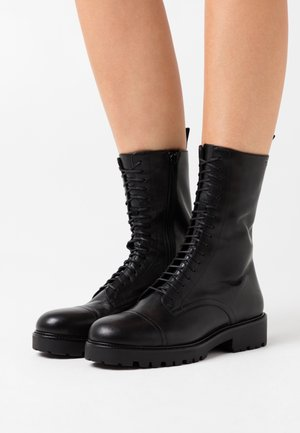 KENOVA - Lace-up ankle boots - black