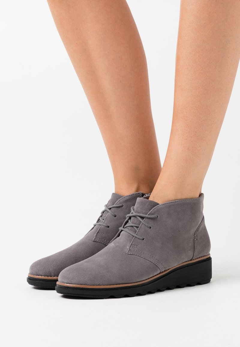Clarks - SHARON HOP - Ankle boots - grey