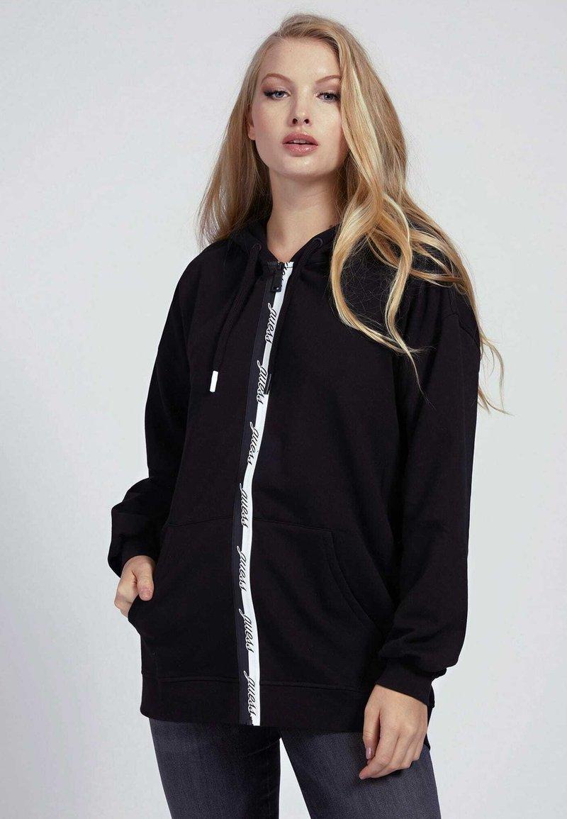 Guess - Zip-up hoodie - schwarz