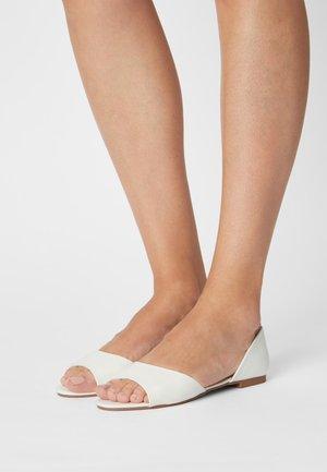 Peeptoe ballet pumps - white
