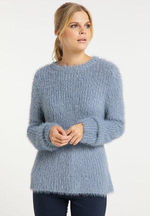 Sweter - grau blau
