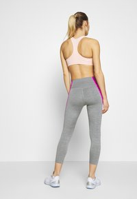 Nike Performance - ONE CROP - Tights - iron grey/fire pink/black - 2