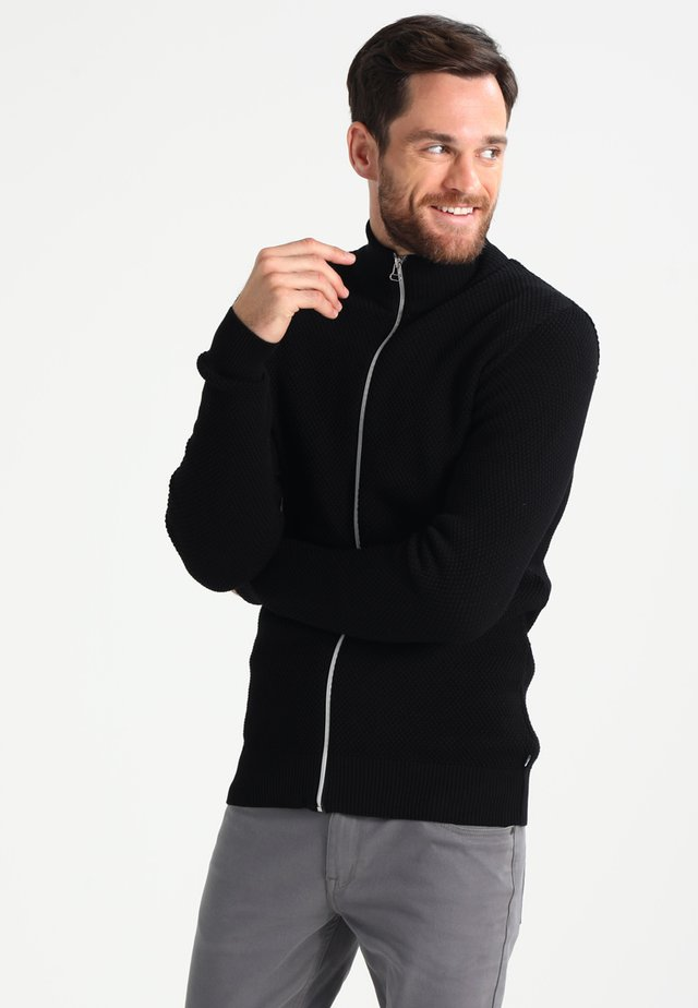 ERIK ZIP - Cardigan - black/charcoal