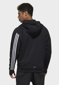 adidas Performance - MUST HAVES ENHANCED AEROREADY HOODED - Sweatjacke - black - 1