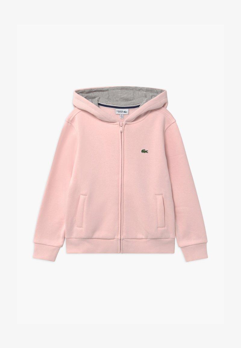 Lacoste Sport - TENNIS - Zip-up hoodie - nidus/silver chine
