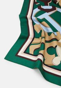 Tory Burch - MEDLEY LOGO SQUARE - Foulard - green/multi-coloured - 3