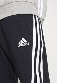 adidas Performance - 3S TAPE PANT - Tracksuit bottoms - black - 4