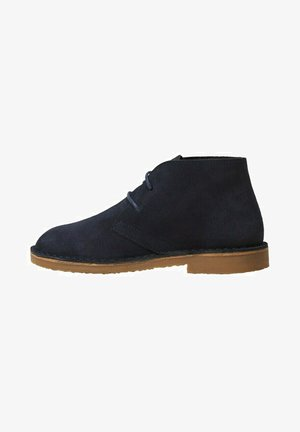 Lace-up ankle boots - dunkles marineblau
