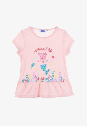 KURZARM - Print T-shirt - rosa