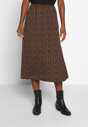 TIEAL SKIRT - A-line skirt - black/berry flower