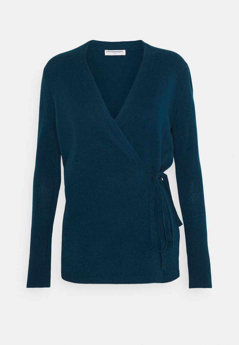 pure cashmere - WRAP CARDIGAN - Cardigan - rich teal