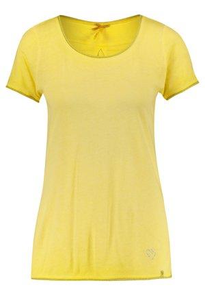 "KEY LARGO DAMEN T-SHIRT ""BASE"" - Print T-shirt - yellow"