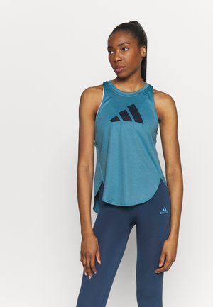 LOGO TANK - Sports shirt - blue
