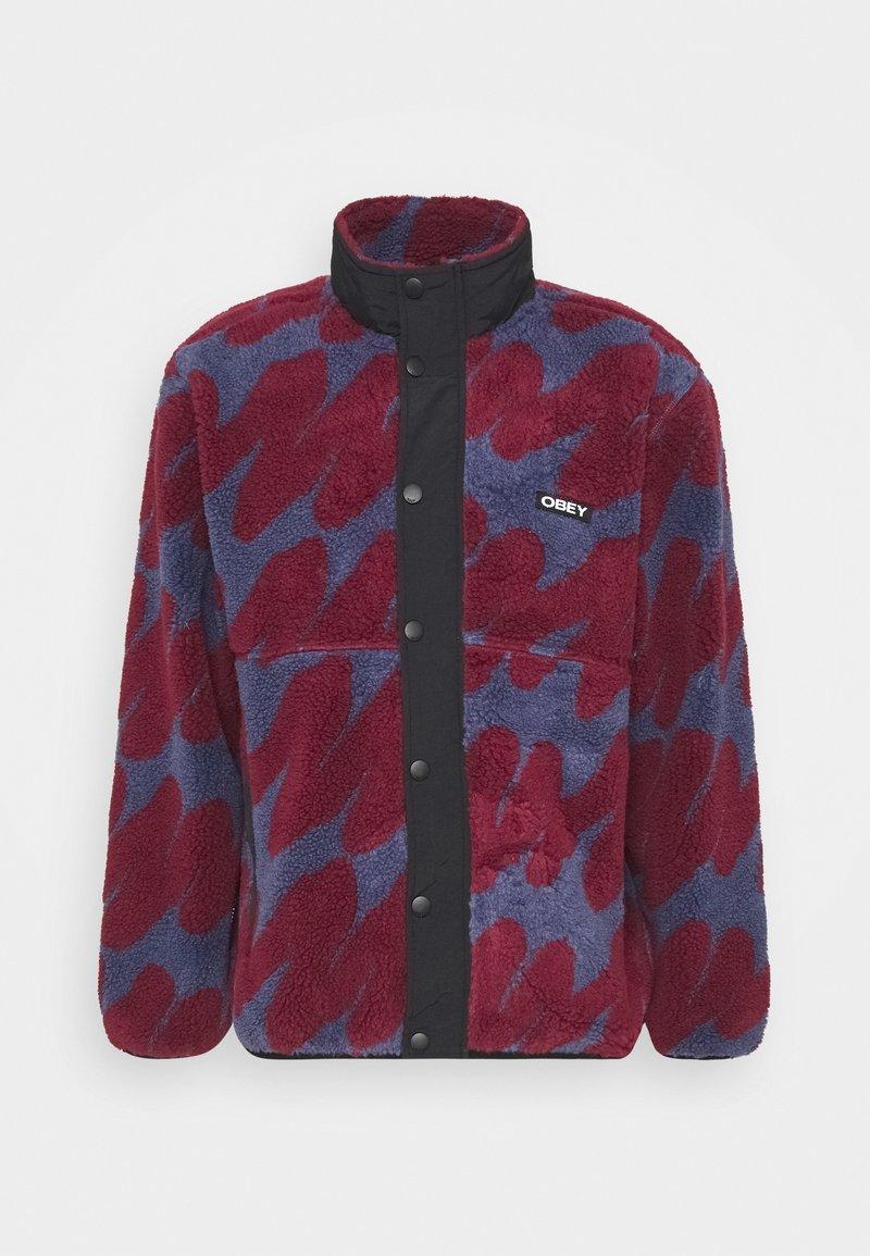 Obey Clothing - HENSE SHERPA JACKET - Fleece jacket - purple/multi