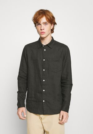 Linen Shirt - Camisa - khaki/green