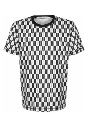 Print T-shirt - institutional checkerboard aop
