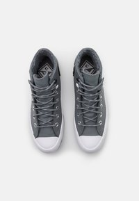 Converse - CHUCK TAYLOR ALL STAR MC LUGGED - High-top trainers - limestone grey/black/white - 5