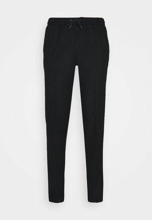 DRAWSTRING TROUSERS - Trousers - black