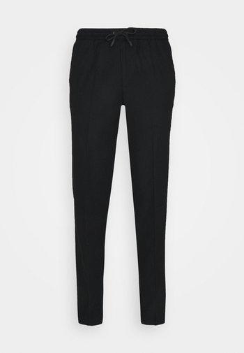 DRAWSTRING TROUSERS - Pantalon classique - black