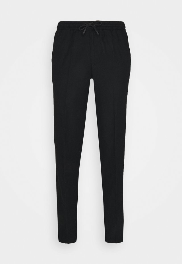 DRAWSTRING TROUSERS - Stoffhose - black