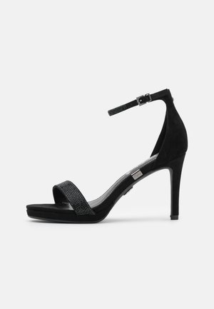 VEGAN MONROE - High heeled sandals - black