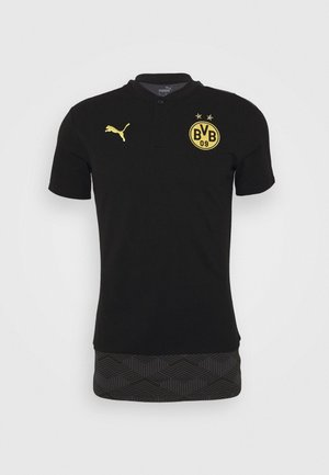 BVB BORUSSIA DORTMUND CASUALS - Club wear - black/cyber yellow